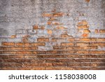 old grunge brick wall with...   Shutterstock . vector #1158038008