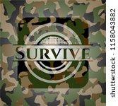 survive on camo texture | Shutterstock .eps vector #1158043882