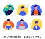 speaking  thinking  writing ... | Shutterstock .eps vector #1158047962