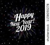 happy new year 2019 card with...   Shutterstock .eps vector #1158050278
