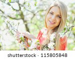 closeup of a beautiful lady... | Shutterstock . vector #115805848