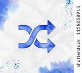 shuffle watercolor icon.... | Shutterstock .eps vector #1158058915