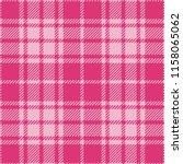 girlish pink tartan plaid... | Shutterstock .eps vector #1158065062