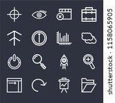 set of 16 icons such as folder  ...