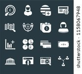 set of 16 icons such as network ... | Shutterstock .eps vector #1158067948