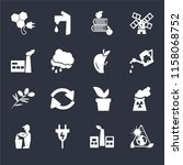 set of 16 icons such as energy...