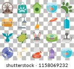 set of 20 transparent icons... | Shutterstock .eps vector #1158069232