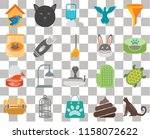set of 20 transparent icons... | Shutterstock .eps vector #1158072622