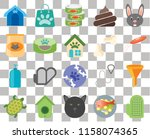set of 20 transparent icons... | Shutterstock .eps vector #1158074365