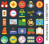 set of 25 icons such as play ...