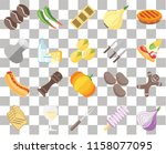 set of 20 transparent icons... | Shutterstock .eps vector #1158077095