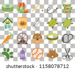 set of 20 transparent icons... | Shutterstock .eps vector #1158078712