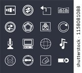 set of 16 icons such as start...