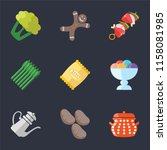 set of 9 simple icons such as... | Shutterstock .eps vector #1158081985