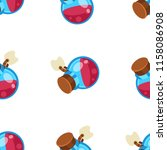 potion jar cartoon vector... | Shutterstock .eps vector #1158086908