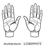 vintage hands. hand drawn...   Shutterstock .eps vector #1158099475