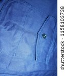 front pocket on blue t shirt | Shutterstock . vector #1158103738