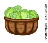cartoon drawing of a basket... | Shutterstock .eps vector #1158104305