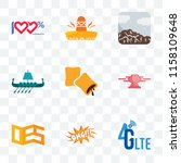 set of 9 transparent icons such ... | Shutterstock .eps vector #1158109648