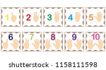 learning numbers  mathematics... | Shutterstock .eps vector #1158111598