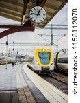 sweden august 11 2018. a clock  ... | Shutterstock . vector #1158112078