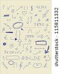 set of doodle signs | Shutterstock .eps vector #115811332