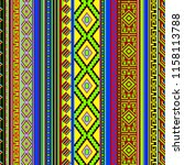 seamless traditional ethnic... | Shutterstock . vector #1158113788