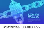 block chain. crypto currency.... | Shutterstock .eps vector #1158114772