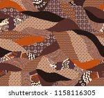 seamless patchwork pattern for... | Shutterstock . vector #1158116305