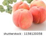 japanese fruits  peaches   Shutterstock . vector #1158120358