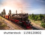 steam locomotive driving... | Shutterstock . vector #1158120802