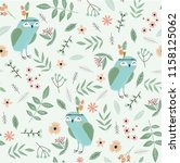 cute floral pattern in the... | Shutterstock .eps vector #1158125062