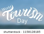 world tourism day. hand drawn... | Shutterstock .eps vector #1158128185