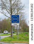 official blue eu sign with the... | Shutterstock . vector #1158134182