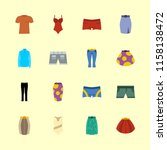 clothes icons set.... | Shutterstock .eps vector #1158138472