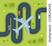 road with traveling transport ...   Shutterstock .eps vector #1158142435