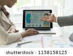 financial image of two ... | Shutterstock . vector #1158158125
