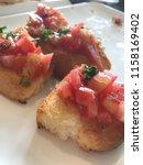 delicious homemade gluten free... | Shutterstock . vector #1158169402