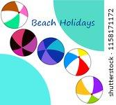 beach ball summer holiday...   Shutterstock .eps vector #1158171172