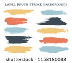 scribble label brush stroke... | Shutterstock .eps vector #1158180088