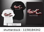 typography slogan with fuck the ...   Shutterstock .eps vector #1158184342