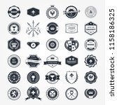emblems  badges and retro seals ... | Shutterstock .eps vector #1158186325