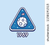 retro style moon landing badge... | Shutterstock .eps vector #1158191515