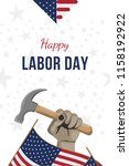 happy labor day holiday banner. ... | Shutterstock .eps vector #1158192922