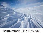 beautiful wind textured snow in ... | Shutterstock . vector #1158199732