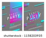 dynamic style poster set for... | Shutterstock .eps vector #1158203935