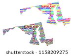sketch maryland  united states... | Shutterstock .eps vector #1158209275
