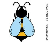 color cute bee natural insect... | Shutterstock .eps vector #1158224938