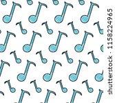 doodle quarter musical note... | Shutterstock .eps vector #1158224965