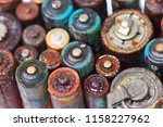 old battery leak isolated  ... | Shutterstock . vector #1158227962